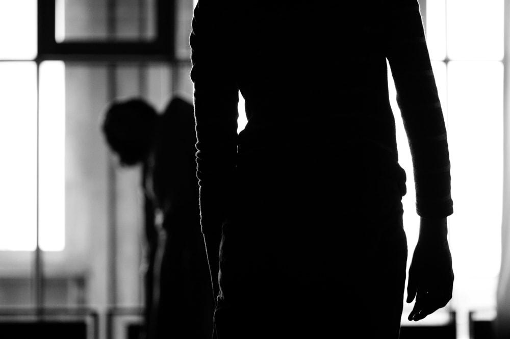 Photographie de danseuse noir et blanc