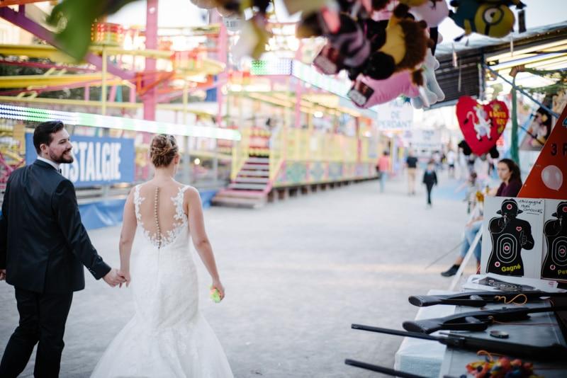 Trash the dress Fête Foraine Nantes Photographe mariage