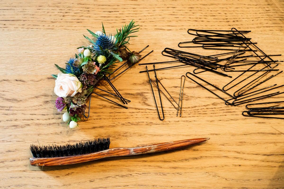 Accessoires de coiffure pour un mariage chic et champetre