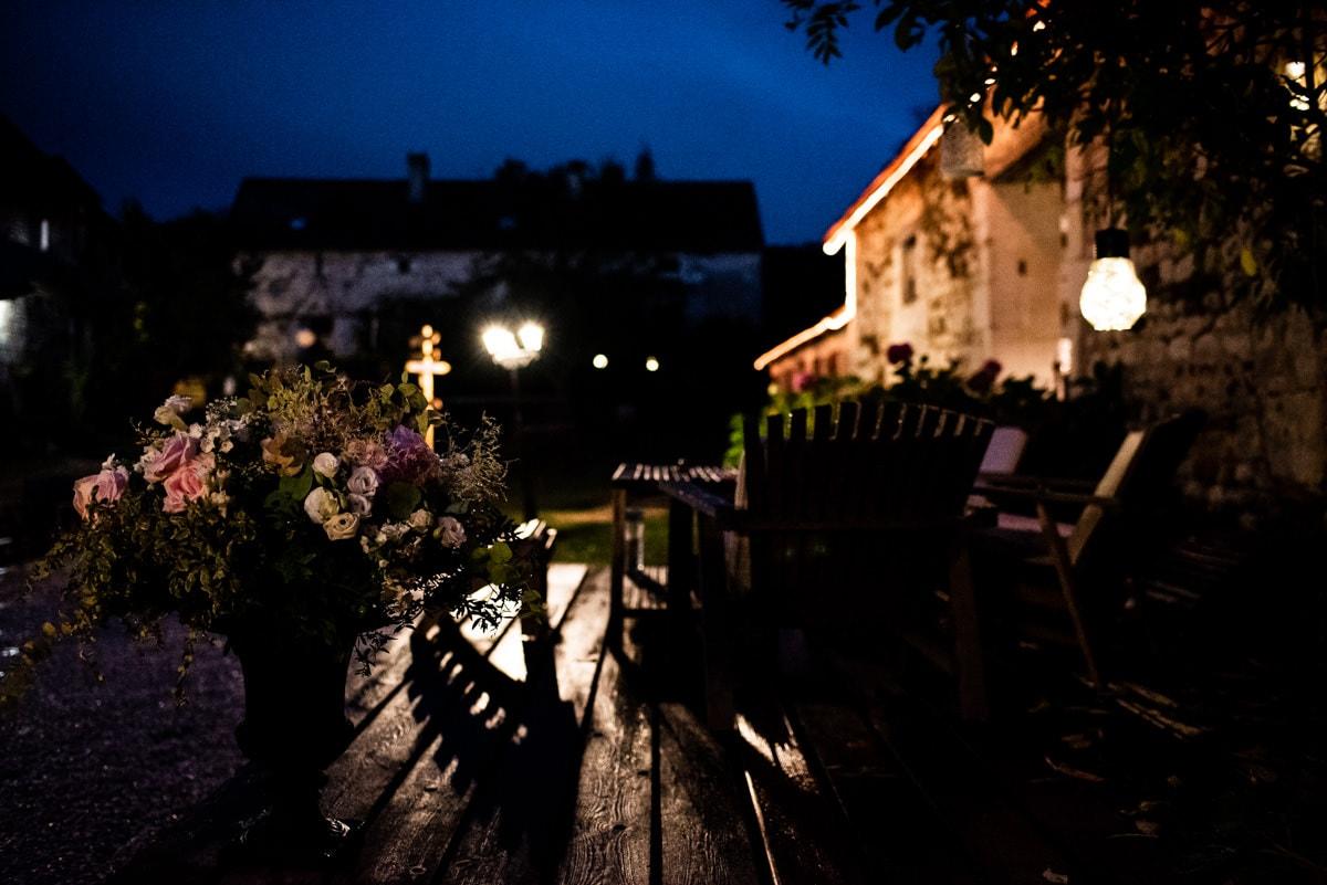 Lumières de nuit au domaine des 4 saisons.